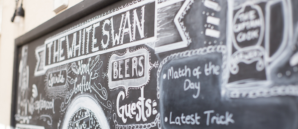 Chalk Board showing events and drinks
